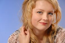 Cute Smiling Young Lady Royalty Free Stock Image