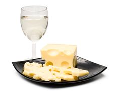 Free Wine In A Glass And Cheese Royalty Free Stock Image - 6189486
