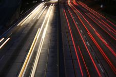 Free Light Trails Los Angeles Freeway Stock Photo - 6189600