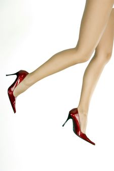 Free Beautiful Legs In Red Shoes Royalty Free Stock Photo - 6189735