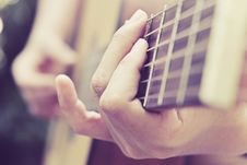 Free Guitar Player Royalty Free Stock Photo - 61897035