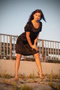 Free Young Lady In Black Dress Royalty Free Stock Photos - 6190088