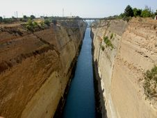 The Corinth Canal. Greece. Stock Images