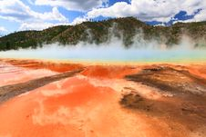 Free Midway Geyser Basin In Yellowstone Royalty Free Stock Photo - 6191255