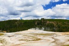Free Upper Geyser Basin In Yellowstone Stock Image - 6191261