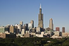 Chicago Seen From West Side Royalty Free Stock Image