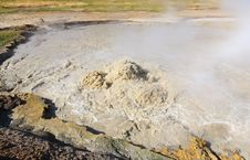 Free Mud Volcano Area In Yellowstone Stock Images - 6191364
