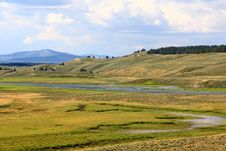 The Scenery Along The Yellowstone River Stock Image
