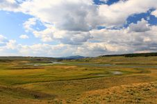 The Scenery Along The Yellowstone River Stock Images