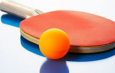 Free Tennis Racket And Orange Ball Royalty Free Stock Photography - 6191467