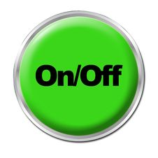 On/Off Button Royalty Free Stock Photo