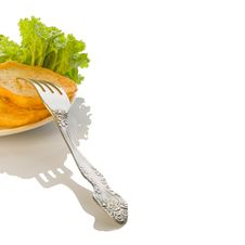 Free Fragment Roasted Potato Pancakes Royalty Free Stock Photography - 6191897