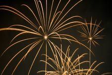 Fireworks In Night Sky Stock Image