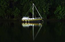 Free Night Boat Royalty Free Stock Photo - 6192445