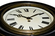 Grunge Clock From Below Stock Images