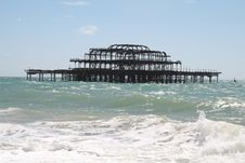 Free Brighton S Derelict West Pier 1 Royalty Free Stock Photo - 6193135