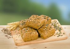 Wholemeal Bread Buns Royalty Free Stock Photography