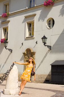 Free Woman On The Krakow S Street Stock Photography - 6193682