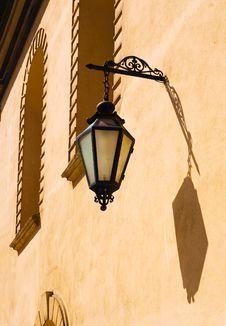 Poland Ancient Street Lamp Stock Photo
