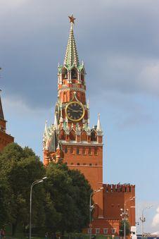 Free Spasskaya Tower, Kremlin. Stock Image - 6193981