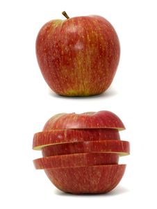 Free Apples Isolated On White. Royalty Free Stock Images - 6194019