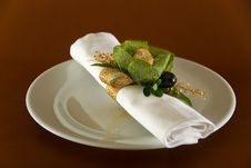 Free Napkin With Sweet Royalty Free Stock Images - 6194189