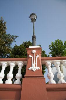 Free Street Lamp On Balustrade Stock Image - 6194461