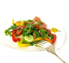 Free Freshness Vegetarian Salad Stock Photography - 6195252