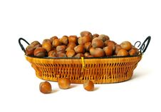 Free Nuts In A Basket Royalty Free Stock Images - 6195349