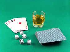 Free Ace Card Poker Gambling And Drink Stock Image - 6195521