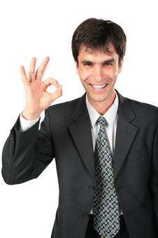 Armenian Businessman Makes Gesture Ok Stock Photos