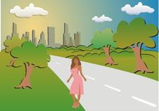 Free City And The Woman Stock Images - 6196804