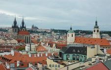 Free View Of Prague In Overcast Day Stock Images - 6196914