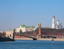 Free View To  Kremlin With Moscow - Rivers Royalty Free Stock Photos - 6197378