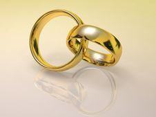 Laced Gold Rings Stock Images