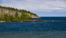 Shovel Point In Blue Royalty Free Stock Photography