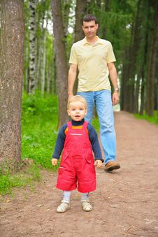 Free Father And Son In Park Stock Photography - 6198522