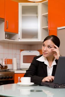Free Businesswoman In Kitchen Stock Photo - 6198850