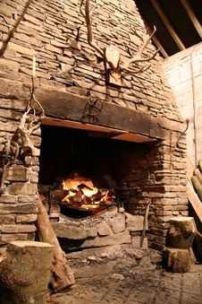Free Inglenook Fire Stock Images - 6199754