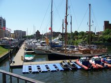 Yachts In Gdansk Royalty Free Stock Image