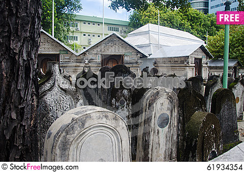 Free Cemetery At Maldives Stock Images - 61934354