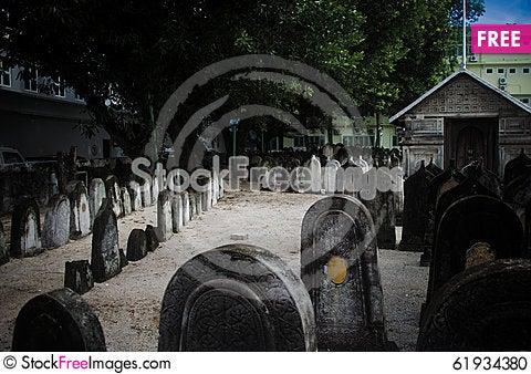 Free Cemetery At Maldives Stock Photo - 61934380