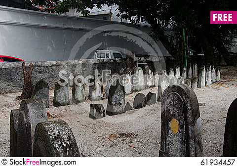 Free Cemetery At Maldives Royalty Free Stock Photography - 61934457