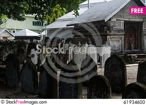 Free Cemetery At Maldives Stock Photo - 61934600