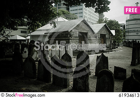 Free Cemetery At Maldives Stock Photos - 61934613