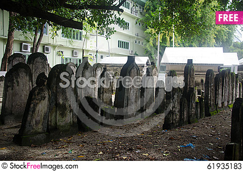 Free Cemetery At Maldives Stock Photos - 61935183