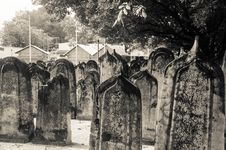 Cemetery At Maldives Royalty Free Stock Photography
