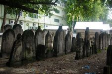 Cemetery At Maldives Stock Photos