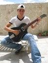 Free Teenage Playing Guitar Stock Photos - 624153