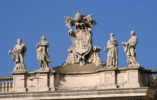 Free Vatican St. Peter Cathedral Detail Royalty Free Stock Photography - 620247